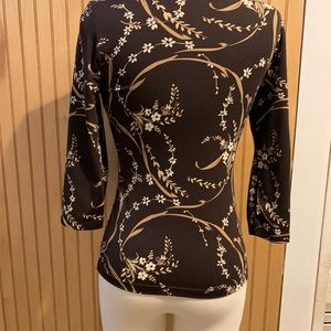 The Limited Tops - The Limited 3/4 sleeved floral blouse